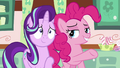 Pinkie introduces Starlight to Mrs. Cake S6E6.png