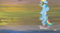 Rainbow Dash evading cymbals S1E10