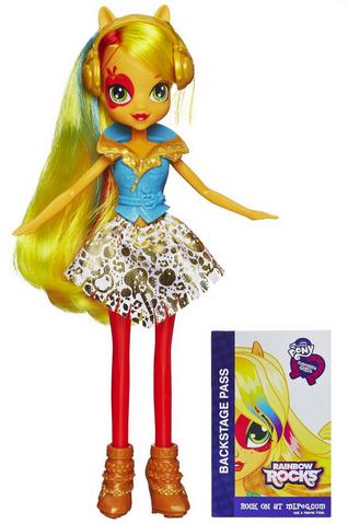 File:Applejack Equestria Girls Rainbow Rocks doll.png