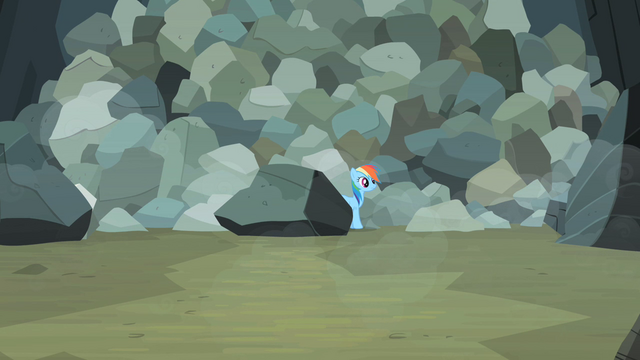 File:Rainbow Dash comes out from behind boulder S2E07.png