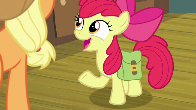 "File:Apple Bloom ""what do you say, Big Mac?"" S7E13.png"