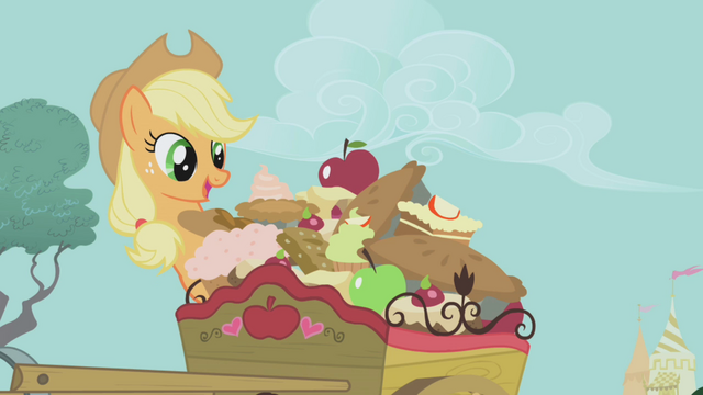 File:Applejack with her food S01E03.png