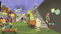 Discord standing on a staircase to nowhere S7E12