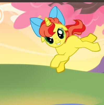 File:FANMADE Sleepy Candy Mane flying happily by PinkieAppleShy.jpg