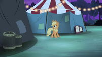 Applejack searching for Silver Shill S4E20