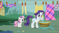 Rarity gets her hoof wet S2E5