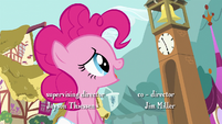 Pinkie Pie looking at the clock S4E12