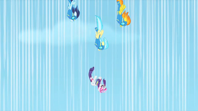 File:Wonderbolts nearing Rarity during rescue S1E16.png