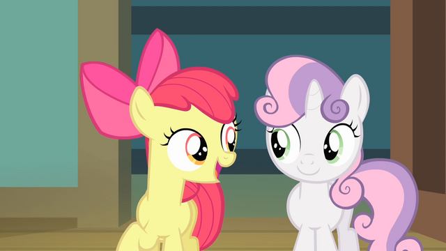 File:Apple Bloom 'Three kinds of ponies livin' together as friends' S4E05.png