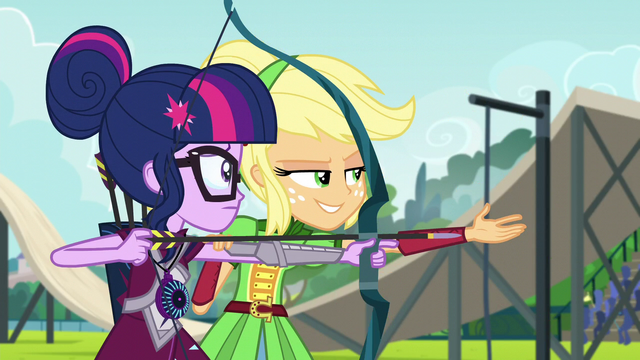 "File:Applejack ""aim at where the target's gonna be"" EG3.png"