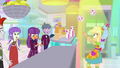 Applejack tosses a smoothie to Ginger Owlseye SS9.png