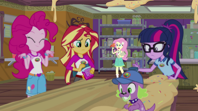 """File:Fluttershy """"the only bird I can understand"""" EG4.png"""