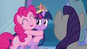 Pinkie Pie hugging Twilight EG.png