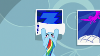Rainbow rolls up Wonderbolts posters S5E3