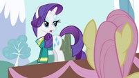 Rarity 'with only three voices' S4E14