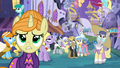 Worried ponies in Canterlot S4E01.png