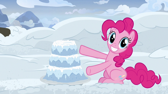File:Pinkie Pie presenting a snow cake S7E11.png