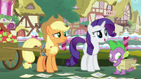 "Rarity ""Hoity Toity has expertise in fabric"" S7E9"