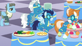 Wind Rider approaches the food tables S5E15.png