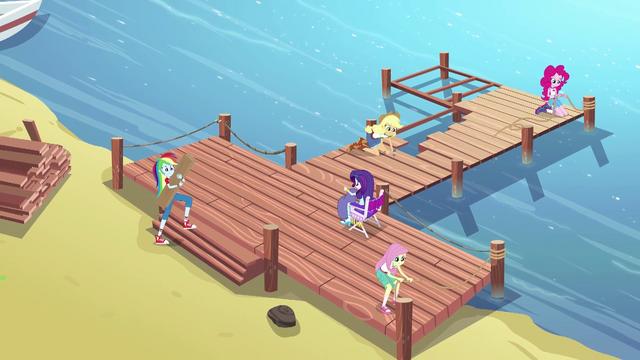 File:Equestria Girls repairing the dock EG4.png