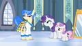 Rarity promising Sapphire Shores that she will love the headdress S4E19.png