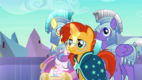 Sunburst approaching with Flurry Heart S6E16