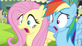 Fluttershy and Rainbow Dash gasp S4E22.png