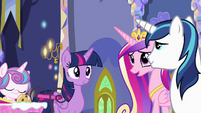 Princess Cadance asks where Spike is S7E3