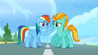 Rainbow Dash raises her wing S3E07