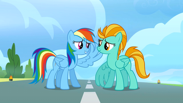 File:Rainbow Dash raises her wing S3E07.png