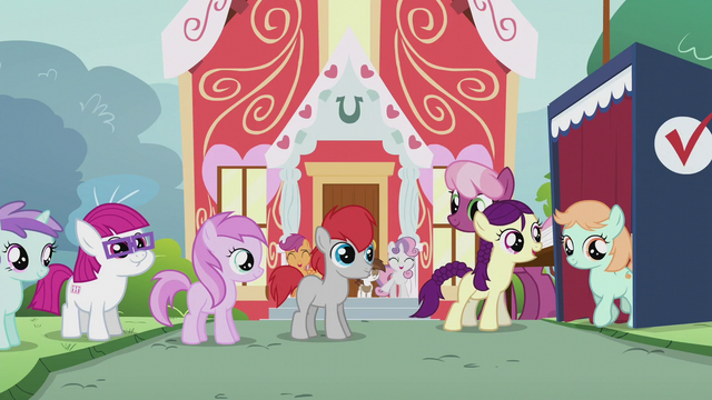 File:Students lining up to vote; one voter leaves the voting booth S5E18.png