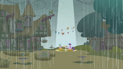Twilight and Spike under spot of sunlight S1E03.png
