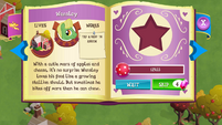 Wensley album page MLP mobile game