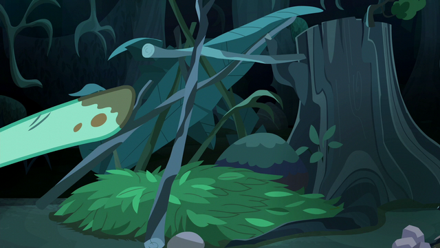 """File:Zephyr Breeze pointing to his """"shelter"""" S6E11.png"""
