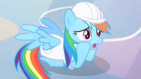 A super nervous Rainbow Dash S1E16