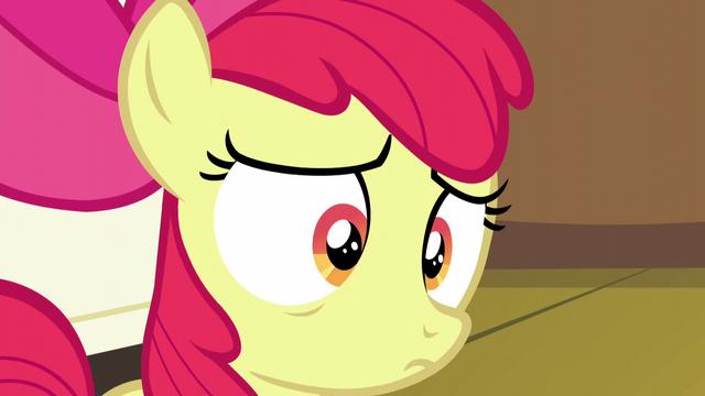 File:Apple Bloom hears she got her cutie mark again S5E4.png