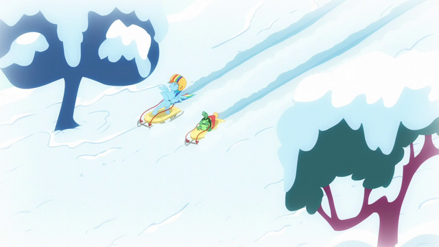 File:Rainbow and Tank sledding together S5E5.png