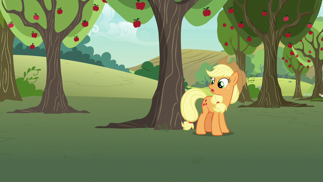 """File:Applejack """"as useful as a burned knot on a zapplin' tree"""" S7E9.png"""