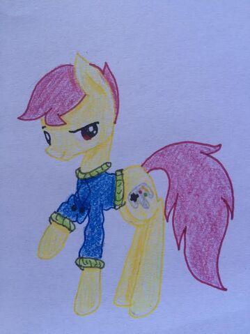 File:FANMADE Gamer Pony OC.jpg