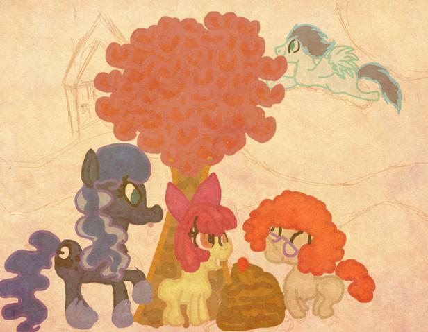 File:FANMADE Luna, Twist, Apple Bloom, Soarin by octado.png
