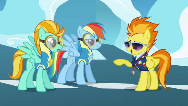 File:Spitfire points at Rainbow and Lightning S3E07.png