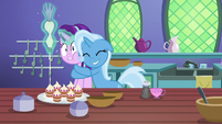 Trixie hugs Starlight Glimmer with joy S7E2