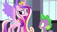 Cadance looking toward the door S5E10