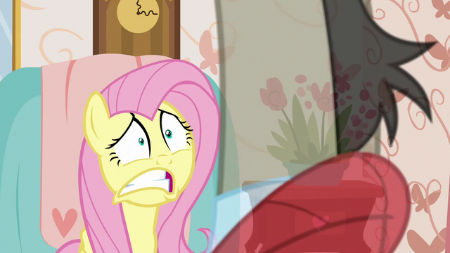 File:Fluttershy freaking out at Discord S7E12.png