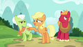 "Applejack ""to avoid anypony in the waitin' room"" S6E23.png"