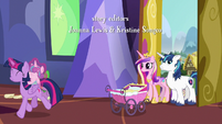 Twilight trotting away with Flurry Heart S7E3