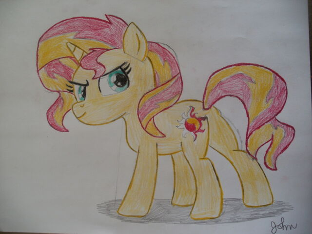 File:FANMADE Sunset Shimmer drawing.jpg