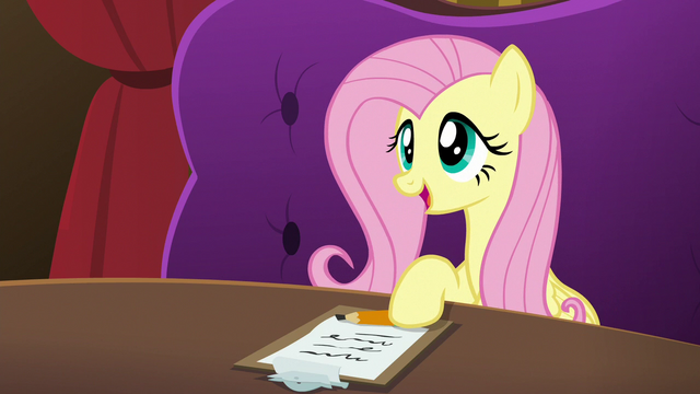 """File:Fluttershy """"sat down and talked to each other"""" S6E20.png"""