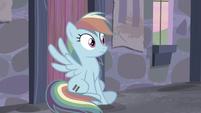Rainbow sees Applejack running towards her S5E02