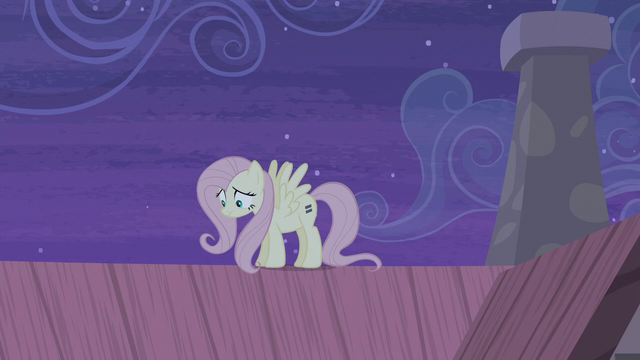 File:Fluttershy still on the roof S5E02.png